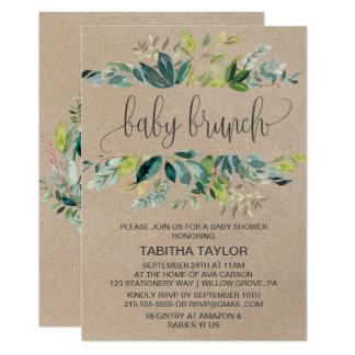 Kraft Foliage Baby Brunch Card