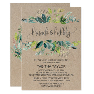 Kraft Foliage Brunch and Bubbly Card