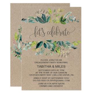 Kraft Foliage Let's Celebrate Engagement Party Card