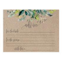 Kraft Foliage Marriage Advice Cards