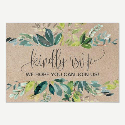 Kraft Foliage Song Request RSVP Invitation