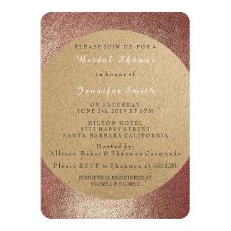 Kraft Glam Pink Rose Gold Powder Bridesmaid Card
