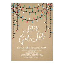 Kraft Holiday Let's Get Lit Party Invitation