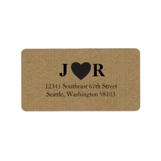 Kraft Monogram Address Labels