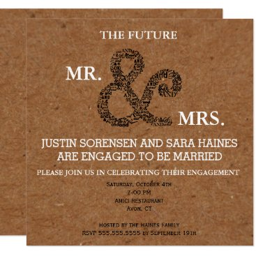 Kraft Mr And Mrs Engagement Party Invitation