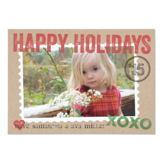 Kraft Packaging Stamped Holiday Photo Card