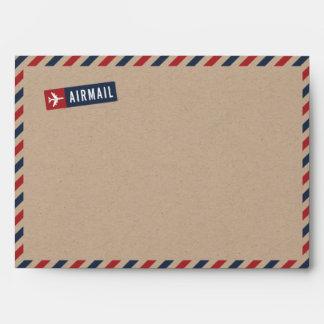 Kraft Paper Airmail Envelope