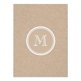 Kraft Paper Background Monogram Card