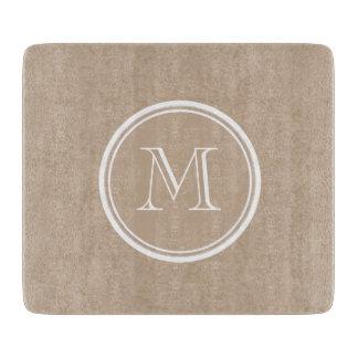 Kraft Paper Background Monogram Cutting Board