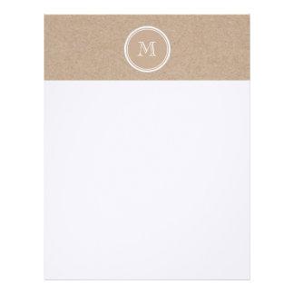 Kraft Paper Background Monogram Letterhead Template