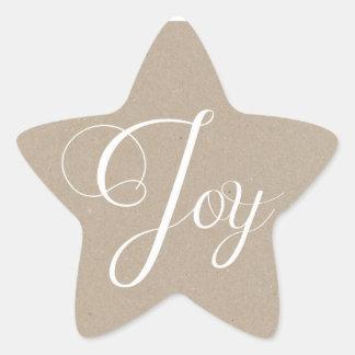 Kraft Paper Christmas Joy Holiday Stickers