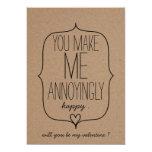 Kraft Paper Cute Heart Funny Valentines Day 5x7 Paper Invitation Card