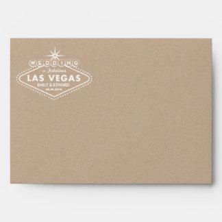 Kraft Paper Envelope Las Vegas Wedding