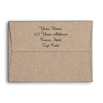 Kraft Paper Look Pre-Printed Envelope