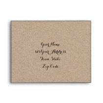 Kraft Paper Look Rustic Wedding RSVP Envelopes