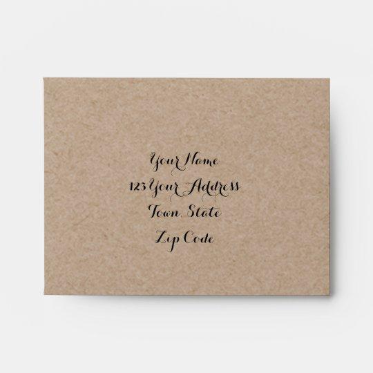 Kraft Paper Look Rustic Wedding Rsvp Envelopes