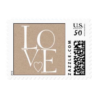 Kraft Paper Love Postage