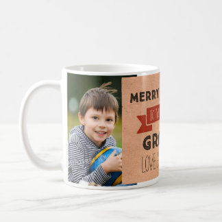 Kraft Paper Photo Best Grandpa Christmas Mug