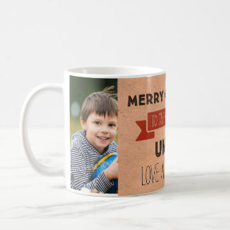 Kraft Paper Photo Best Uncle Christmas Mug
