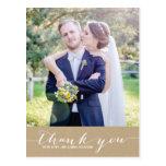 Kraft Paper | Script Thank You Vertical Postcard