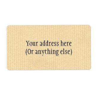 Kraft Paper Shipping Label
