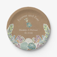 Kraft Paper Succulents Custom Wedding Paper Plates  sc 1 st  Ozdilh & Wedding Paper Plates