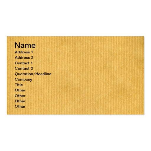 Kraft Paper Texture Business Cards