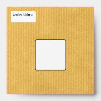 Kraft Paper Texture Envelope