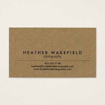 Professional Business Kraft & Photo Calling Card