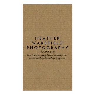 Kraft & Photo Calling Card