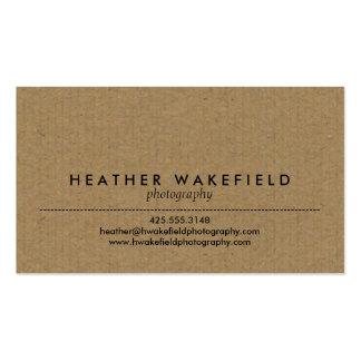 Kraft & Photo Calling Card Business Card Template