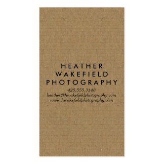 Kraft & Photo Calling Card Double-Sided Standard Business Cards (Pack Of 100)