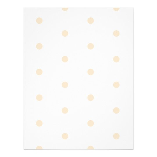 Kraft Polka Dots on White Stationery