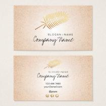 Kraft Printed Gold Leaf Soul Business Card