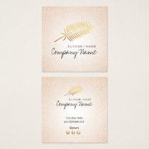 Kraft Printed Gold Leaf Soul Square Business Card