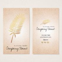 Kraft Printed GoldLeaf Soul Vertical Business Card