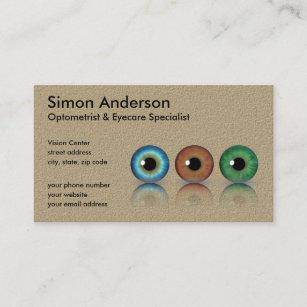 Doctor of optometry business cards zazzle kraft professional optometrist eyeballs optometry business card colourmoves