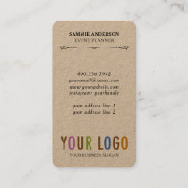 Kraft Rounded Corner Vertical Business Cards