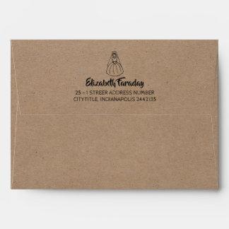 Kraft Style Bride Envelope