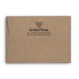 Kraft Style Groom's Envelope