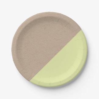 Kraft y el pastel sumergieron la placa de papel plato de papel 17,78 cm
