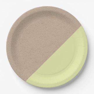 Kraft y el pastel sumergieron la placa de papel plato de papel 22,86 cm