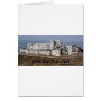 Krak Des Chevaliers, a Crusader Castle Card