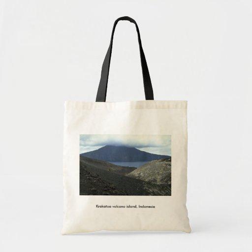 Krakatoa volcano island, Indonesia Budget Tote Bag