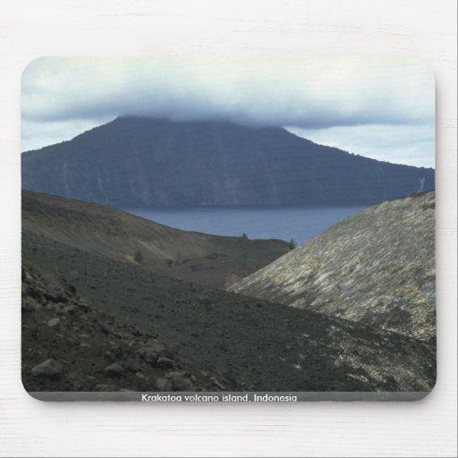 Krakatoa volcano island, Indonesia Mouse Pad
