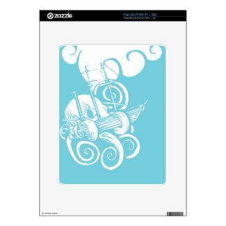 Kraken and Ship iPad Skins