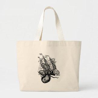 Kraken Attack Canvas Bags