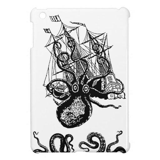 Kraken Attack Giant Octopus Pirate Steampunk ipad iPad Mini Case