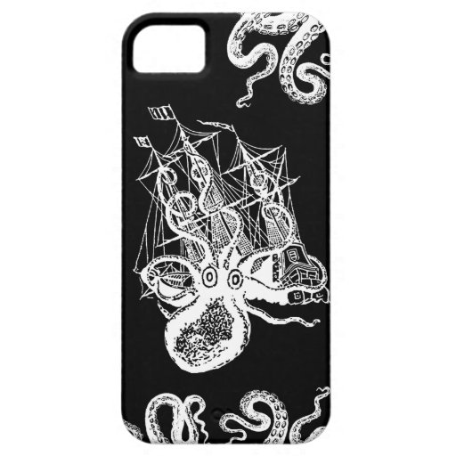 Kraken Attack iphone5 STeampunk case black iPhone 5 Case