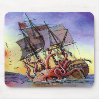 Kraken Attack Mousepad